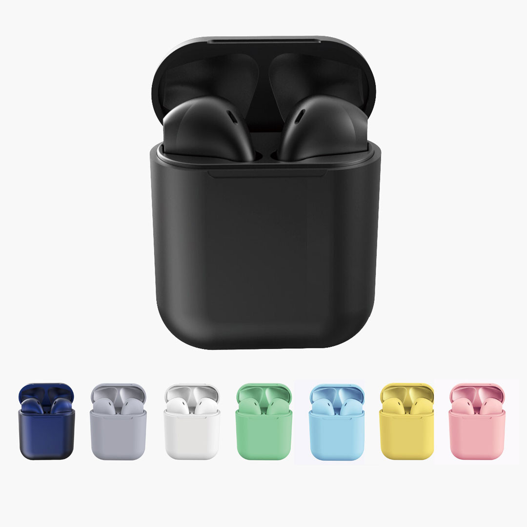 Casti Wireless, InPods 12, EarBuds, tehnologie Bluetooth 5.0, Bass Boost pentru iOs & Android