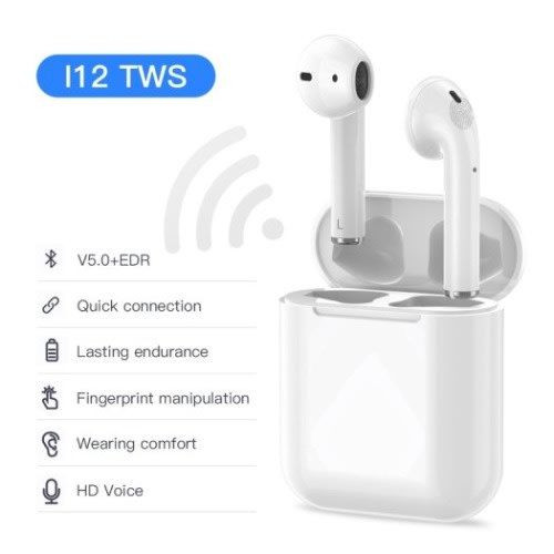 Casti Bluetooth, Wireless i12 Profesionale, Touch control Compatibile Android si iOS
